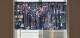 ムーミン カフェカーテン ここにいるよ 約140×52cm MOOMIN グリーン グレー ネイビー サックス イエロー