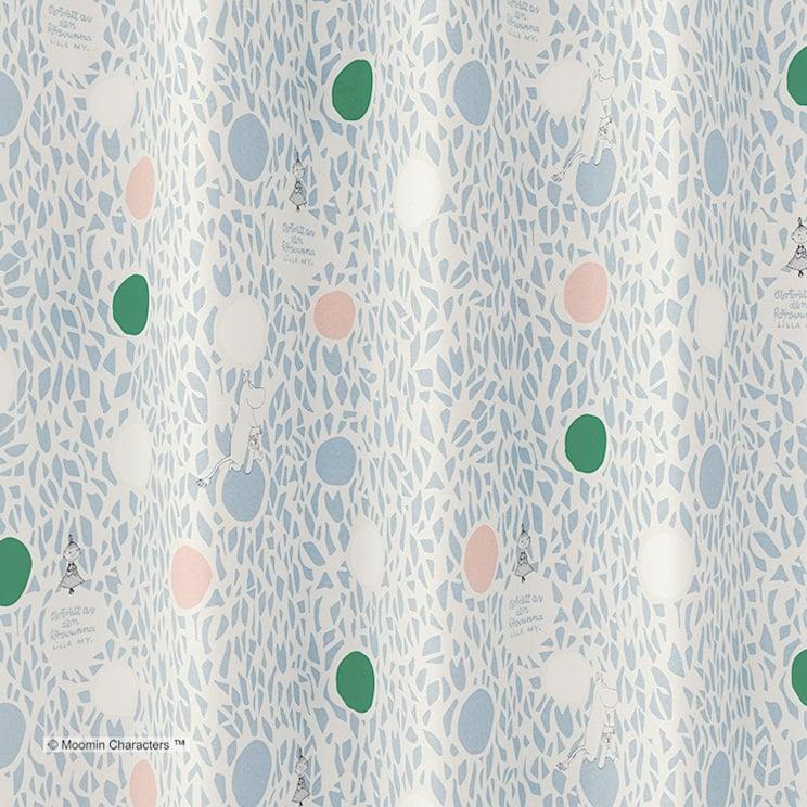 2級遮光カーテン ムーミン 「COLOR CIRCLE カラーサークル ブルー」 幅〜300cm×丈〜260cm