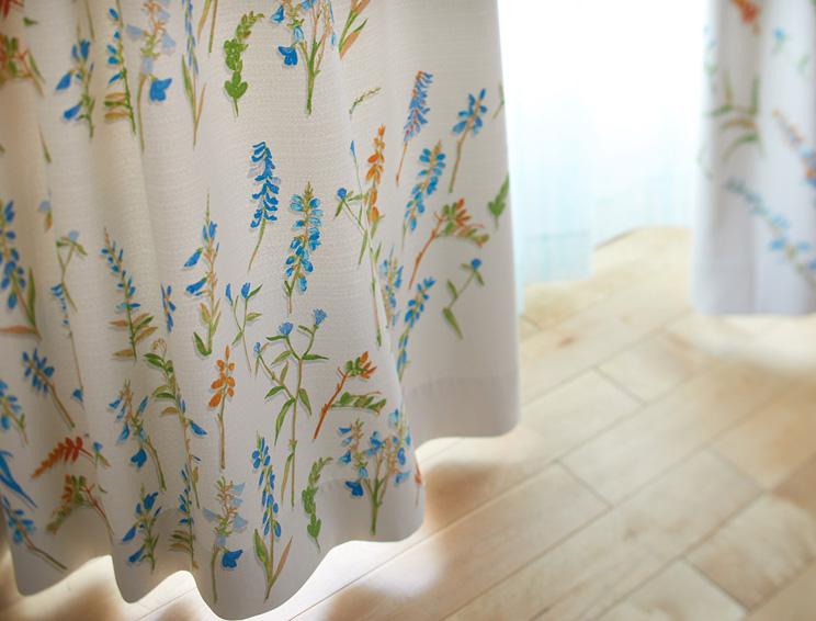 3級遮光カーテン スミノエ デザインライフ 「COLLET コレット ブルー」 生地サンプル ※1種類につき1枚まで、計5枚まで