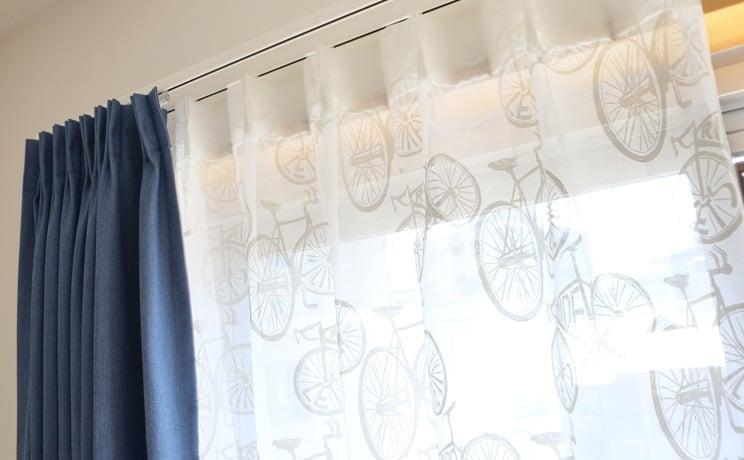【最短6営業日で出荷】オパールレースカーテン「Carter カーター ホワイト」  幅〜100cm×丈〜200cm