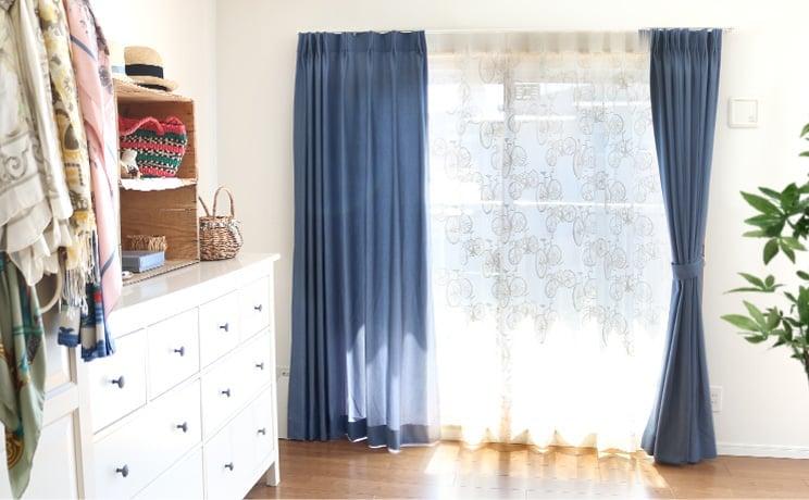 【最短6営業日で出荷】オパールレースカーテン「Carter カーター ホワイト」  幅〜200cm×丈〜200cm