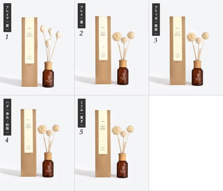 スメルズライクスペルズ ホームフレグランス フレグランスオイル アロマ スティック お花のリードディフューザー付き