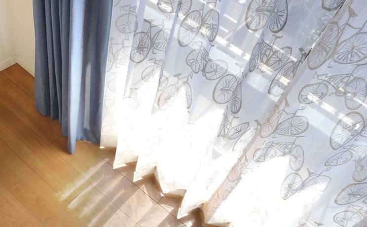 【最短6営業日で出荷】オパールレースカーテン「Carter カーター ホワイト」  幅〜300cm×丈〜140cm
