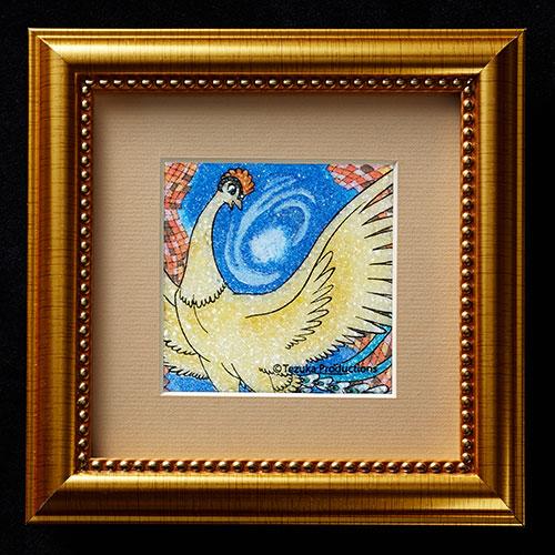 ジュエリー絵画 卓上サイズ「火の鳥」FB5