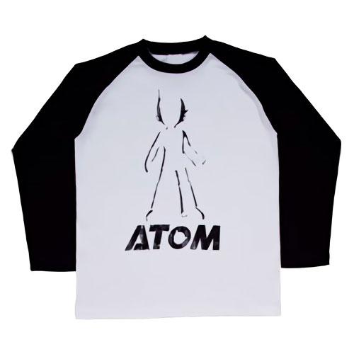 映画ATOM 限定 ヴィンテージ ラグランロンT シルエット(ホワイト×ブラック)150