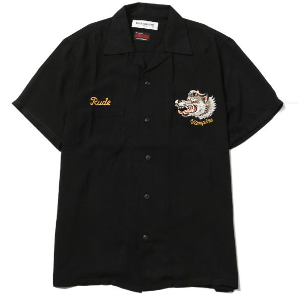 VAMPIRE SOUVENIR SHIRT バンパイヤ スーベニアシャツ BLACK