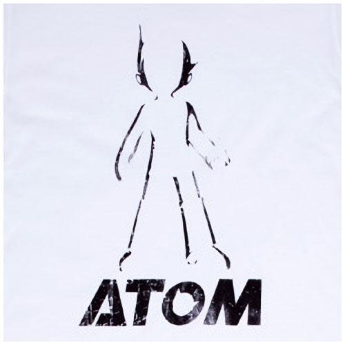 【キッズ】映画ATOM 限定 ヴィンテージTシャツ シルエット(ホワイト)