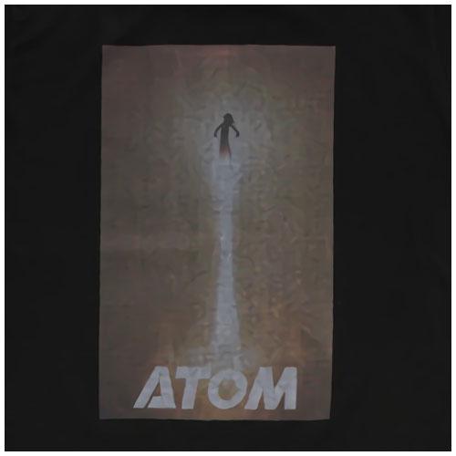 【キッズ】映画ATOM 限定 ヴィンテージ Tシャツ ラバープリント(ブラック)