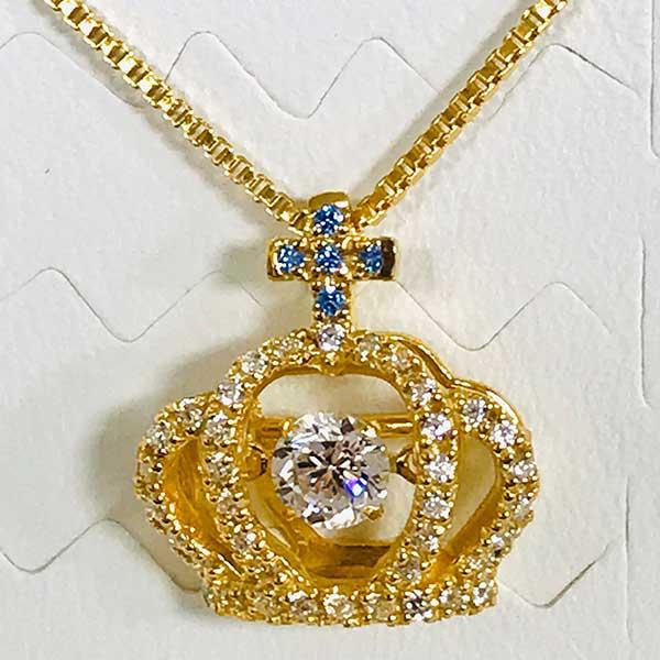 【受注生産】サファイアの王冠ネックレス 金≪1〜3か月以内に出荷≫