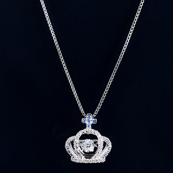 【受注生産】サファイアの王冠ネックレス 銀≪1〜3か月以内に出荷≫