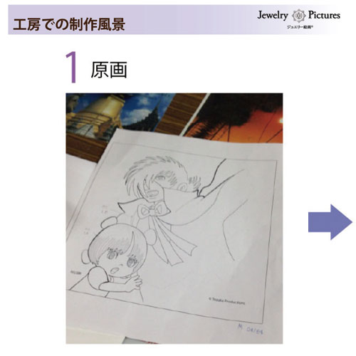 【受注生産】ジュエリー絵画 卓上サイズ「火の鳥」FB5