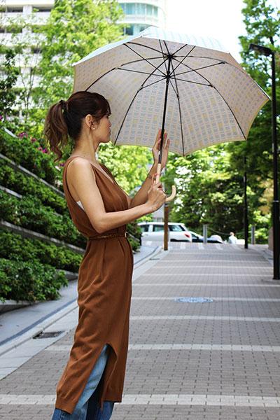 郡内織 晴雨兼用傘(長傘) ユニコ A青×黄色