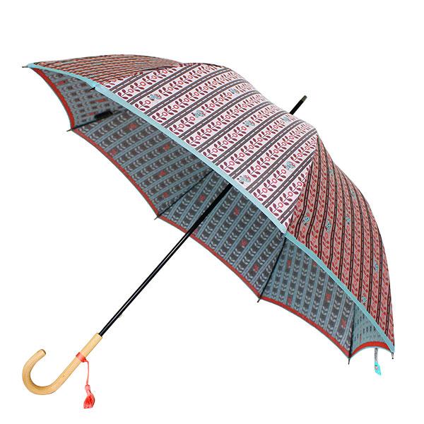 郡内織 晴雨兼用傘(長傘) ユニコ Bピンク