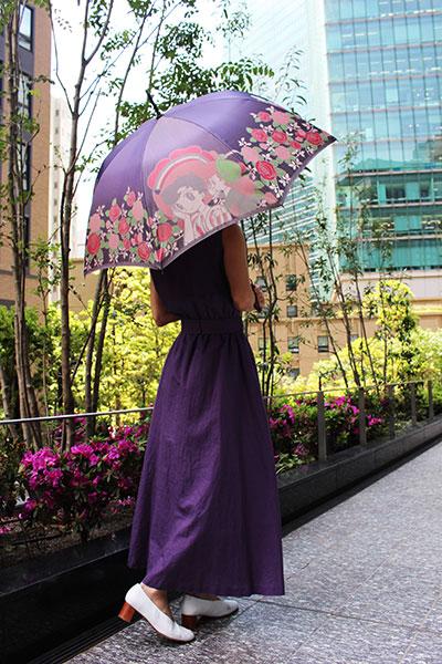 郡内織 晴雨兼用傘(長傘) リボンの騎士 A