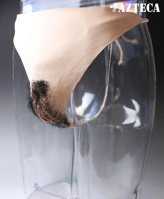 女装/女体化Vストリング/生理キット付き/セックス用膣付き/TSF/ラバー製人工女性器と肛門【ゆうパケット可】