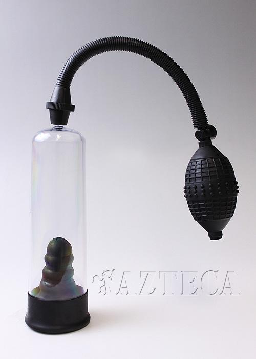 ペニス増大ポンプ/ポンプ内部にラバー素材のペニスケース内臓/コックスリーブ付/ペニス増大器具・勃起補助ポンプ/始めての方でも安心です◆XR-AC360
