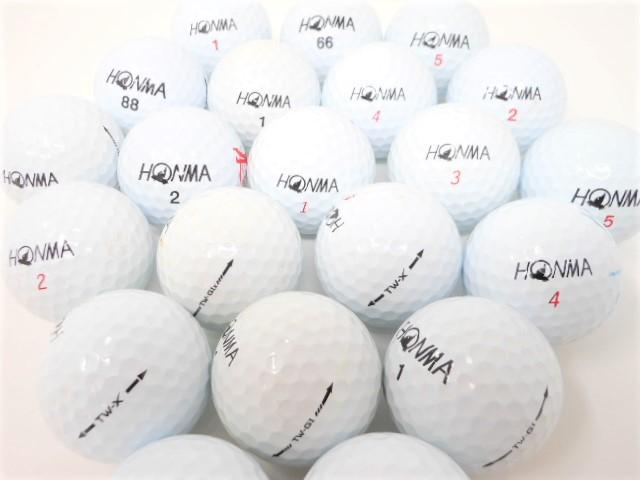 【送料無料】 増量 40p ホンマ TW シリーズ限定 Bランク ロストボール ゴルフボール 【中古】