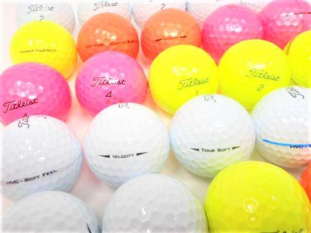 【送料無料】 タイトリスト 限定 20球 パック 特Aランク・Aランク ロストボール ゴルフボール  【中古】