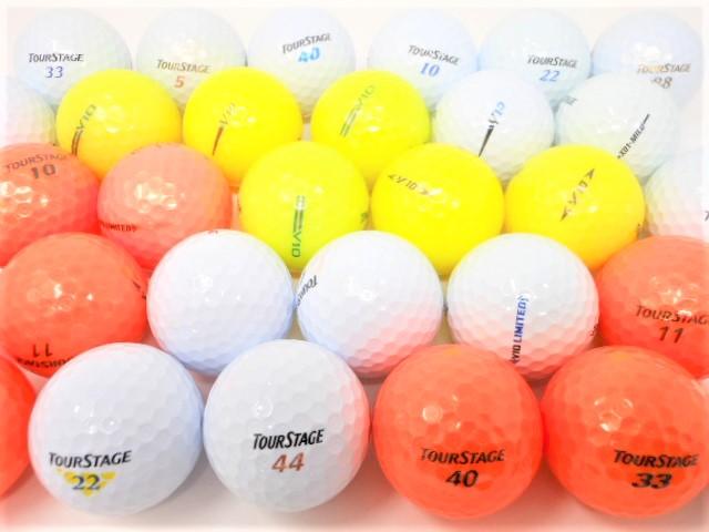 【送料無料】 ツアーステージ  限定 20球 パック 特Aランク・Aランク ロストボール  ゴルフボール 【中古】