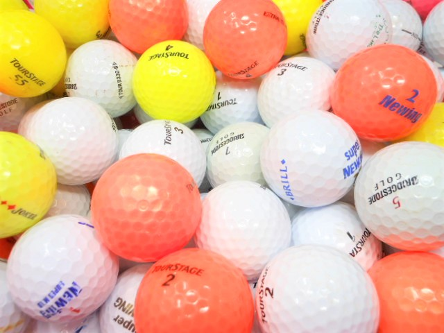 【送料無料】 ブランド限定 60球 Bランク 激安 ロストボール ゴルフボール タイトリスト ブリヂストン スリクソン【中古】