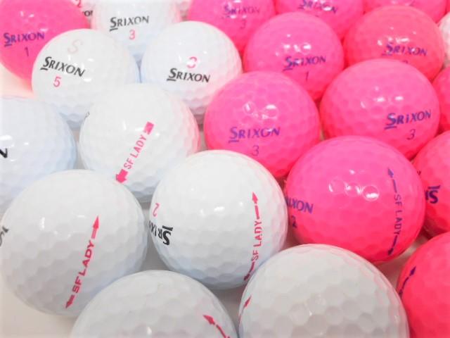 スリクソン SF LADY SFレディー ロストボール Bランク ゴルフボール 【中古】【1球】