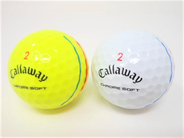 キャロウェイ CHROME SOFT 2020年 モデル 特Aランク  CHROME SOFT / TRUVIS / TRIPLE TRACK クロムソフト / トゥルービス / トリプルトラック ロストボール ゴルフボール 【中古】【1球】