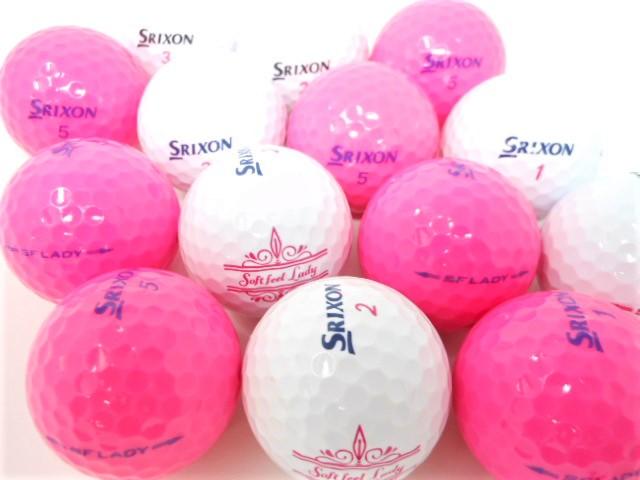 スリクソン SF LADY モデル混合 特Aランク ロストボール ゴルフボール SFレディー 【中古】【1球】