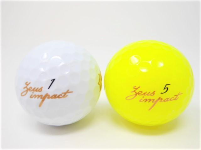 キャスコ Zeusimpact2 ゼウスインパクト2 2019年 モデル ロストボール 特Aランク ゴルフボール 【中古】【1球】