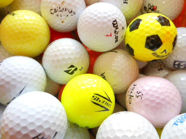【送料無料】 自宅練習用 激安 ゴルフボール 100球 ロストボール 【中古】