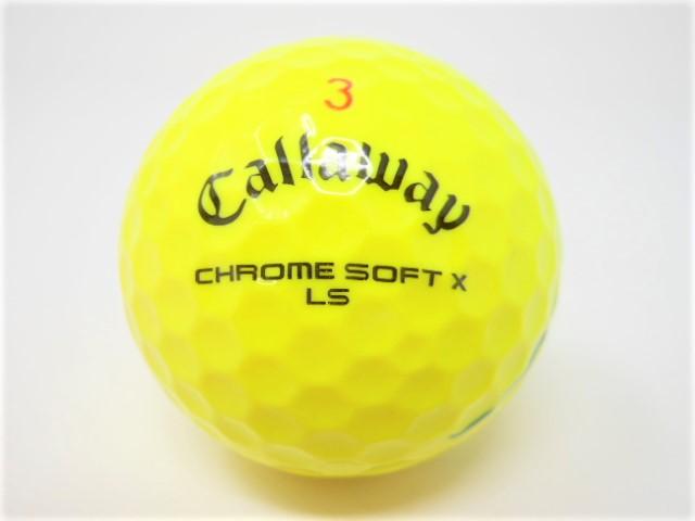 キャロウェイ CHROME SOFT X LS 2021年 モデル 特Aランク CHROME SOFT X / TRIPLE TRACK / クロムソフトX / トリプルトラック ロストボール ゴルフボール 【中古】【1球】