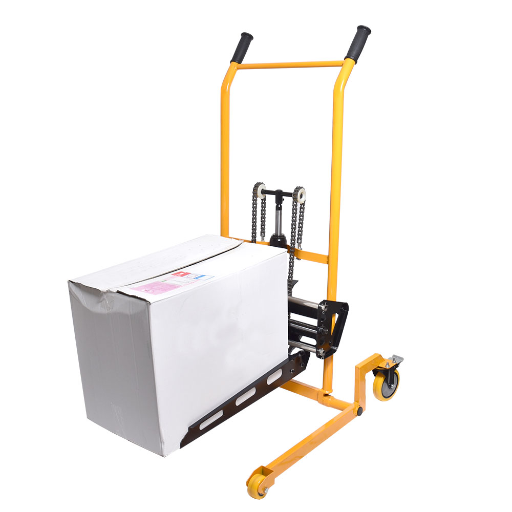 荷幅調整機能付き油圧リフト 電動アシスト台車