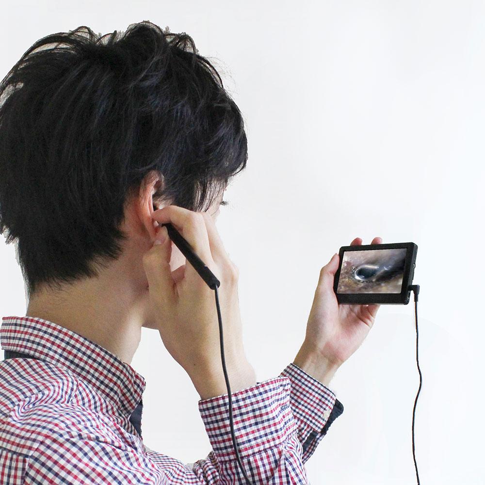 どこでもかんたん「モニター付きモバイル耳スコープ」 拡大鏡・レンズ