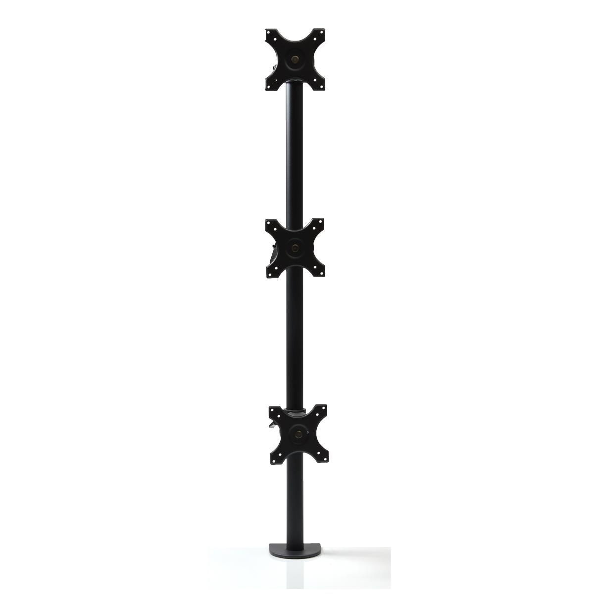 縦型3面ロングポールモニターアーム