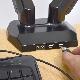 USBポート&オーディオコネクタ付き 4軸式ガスショックモニターアーム(デュアル)