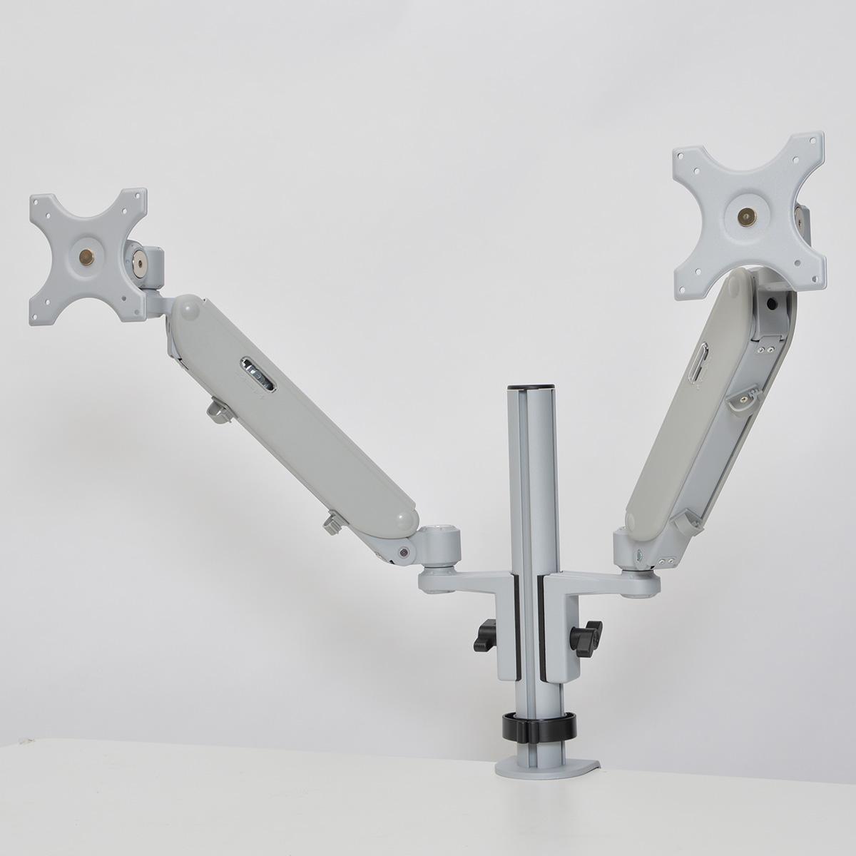 可動式ガスショックデュアルモニターアーム