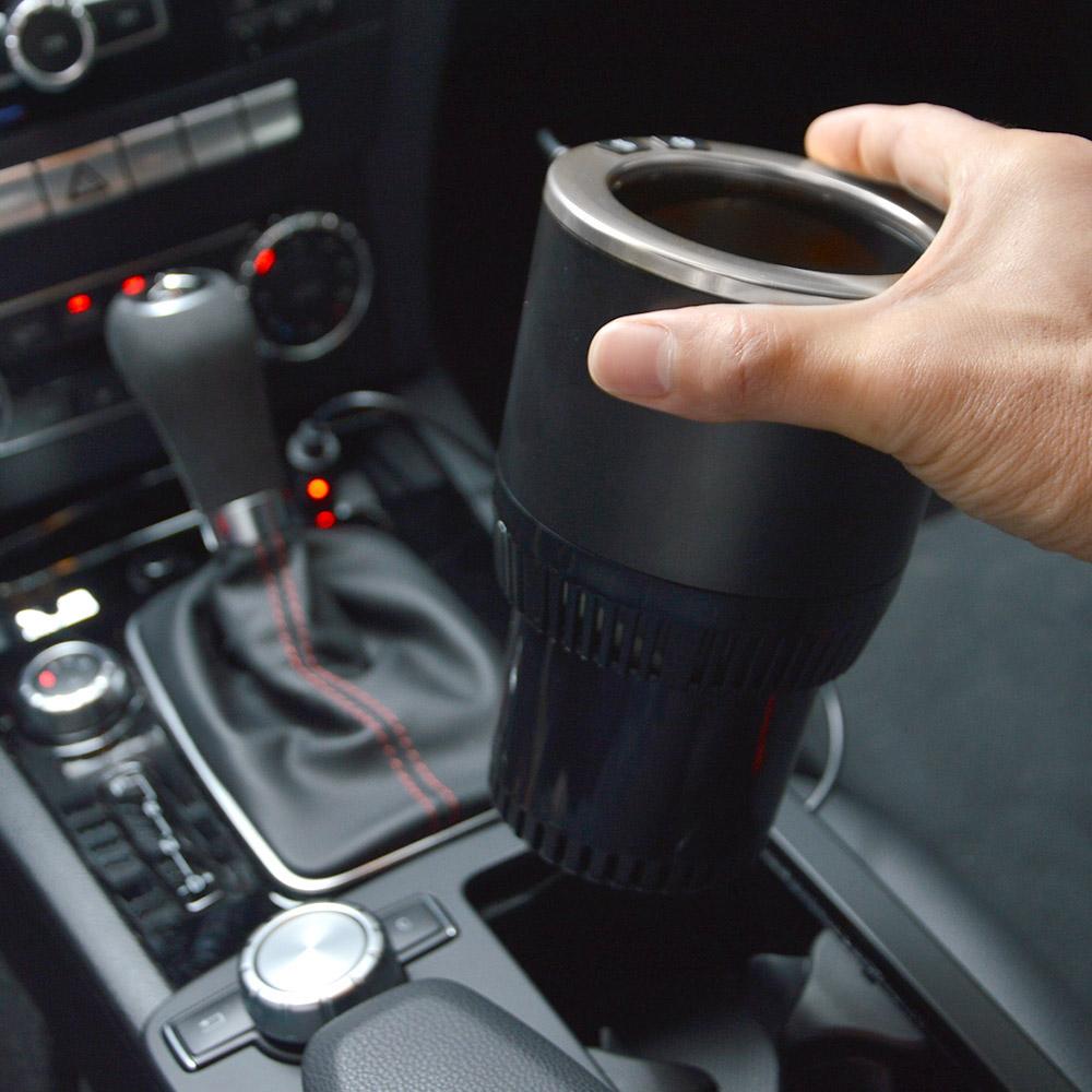 飲み物がずっと冷えたまま「車用温冷ドリンクホルダー」