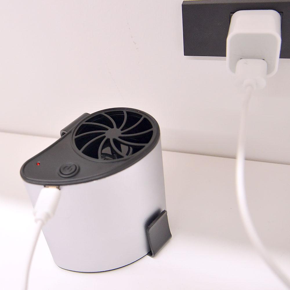 持たないUSB充電式扇風機「腰ベルトファン」