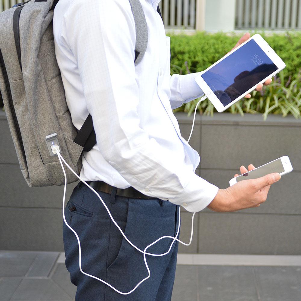 USB2ポート付きスクウスPCバックパック