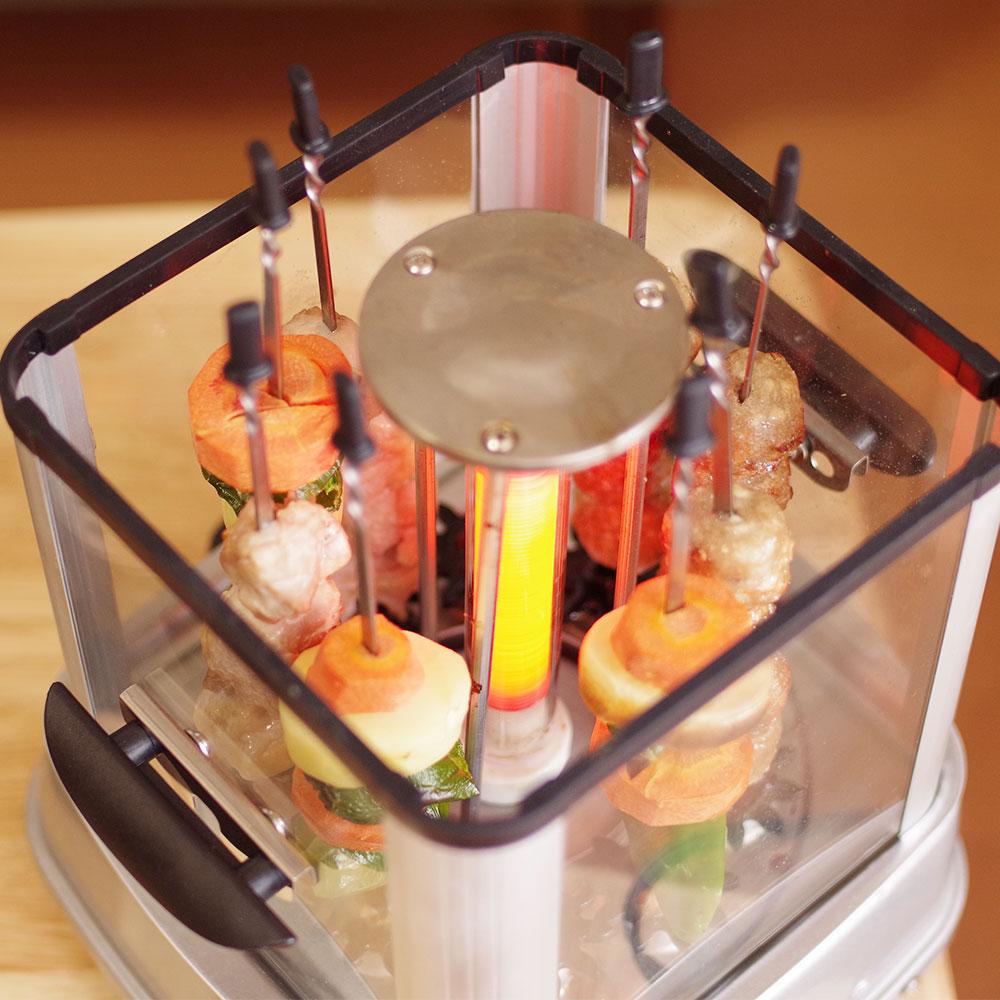 自動で回る卓上無煙焼き鳥器「自家製焼き鳥メーカー」