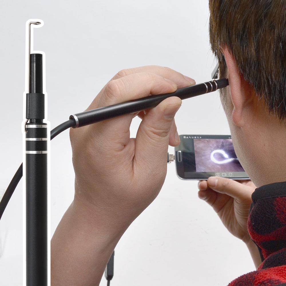 カメラで見ながら耳掃除!爽快USB耳スコープ