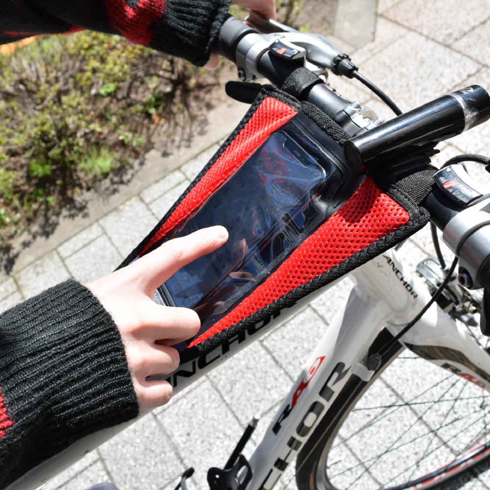 自転車用衝撃吸収スマホホルダーバンド