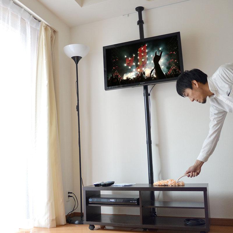 どこでも壁掛け風テレビスタンド「つっぱりTVポール」