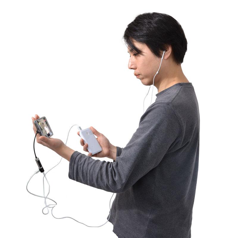 iPhone 7/7 Plus用 充電イヤホンニコイチアダプタ