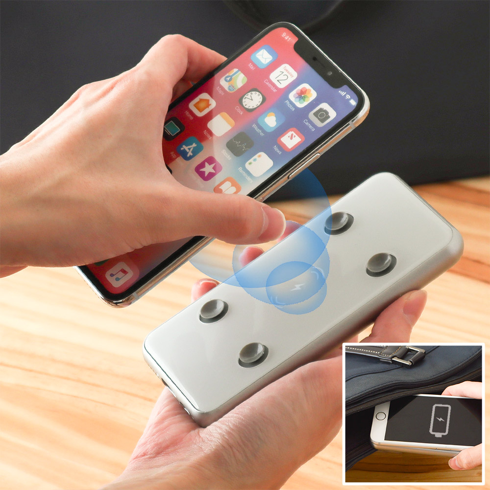ワイヤレス充電モバイルバッテリー「ピタッQiバッテリー」