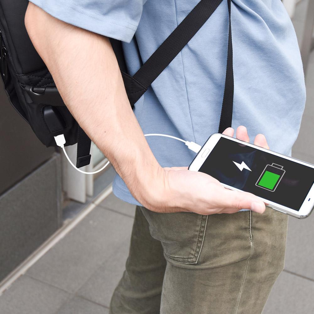 USB&ポンチョ付き 大容量「マルチビジネスバッグ」