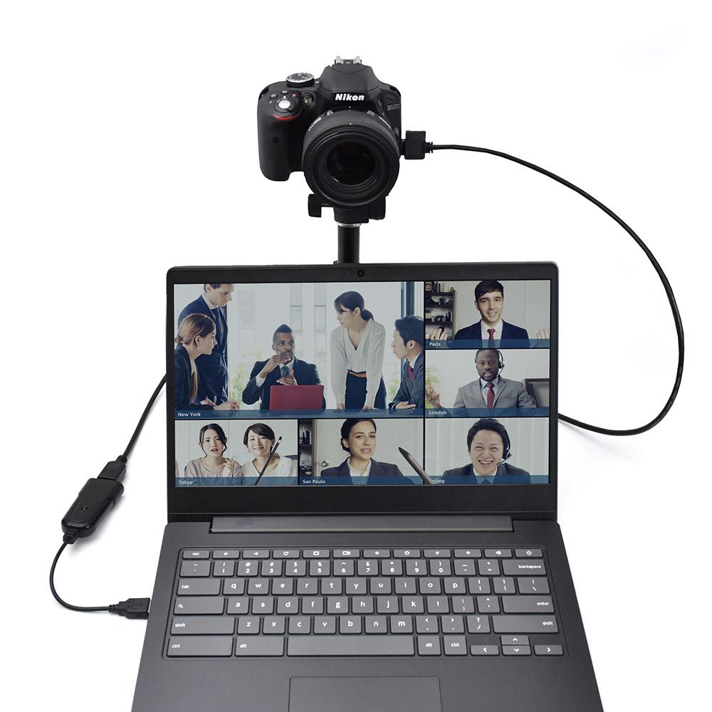 一眼カメラやビデオカメラをWEBカメラに!「HDMI to USB WEBカメラアダプタ」