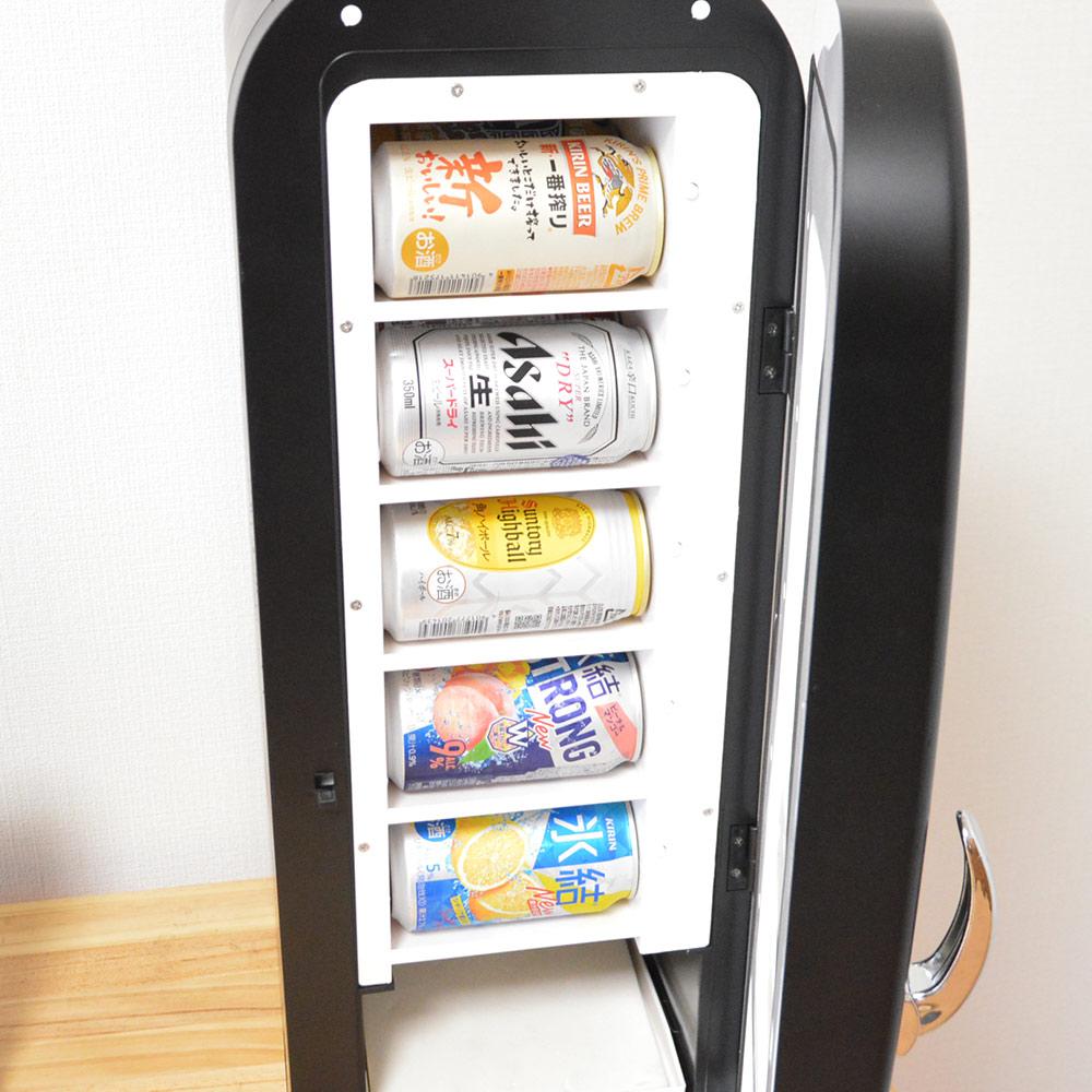 インテリアにもなる自動販売機型保冷庫「俺の自販機」