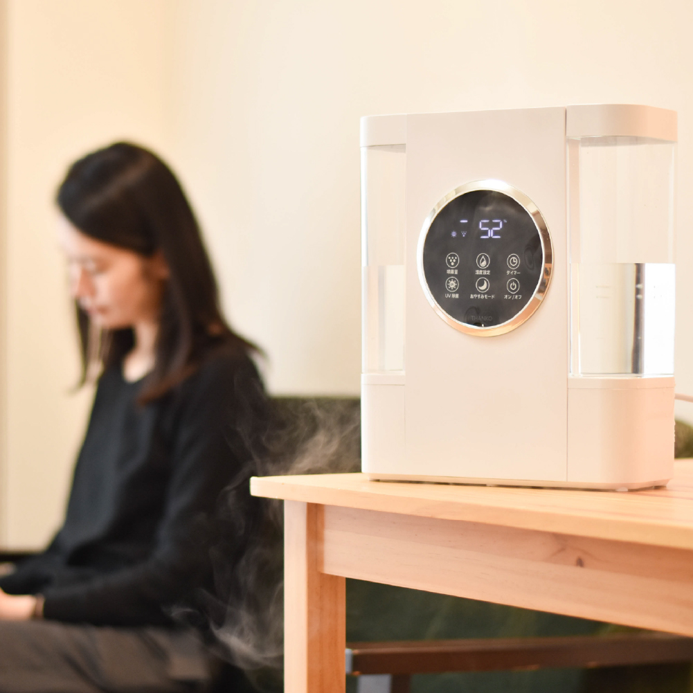 キレイを保つ「UV&超音波式アロマ加湿器」