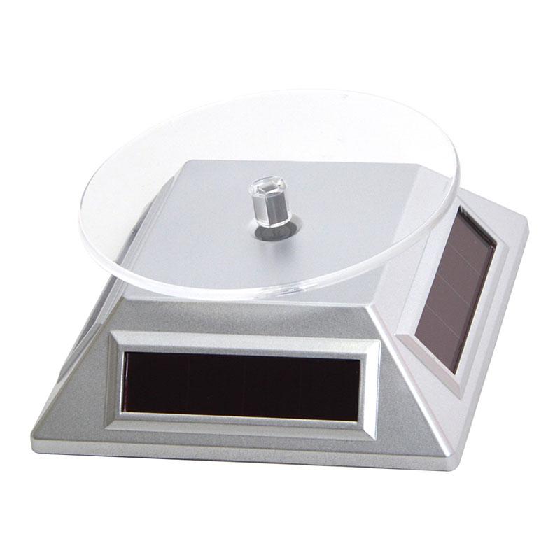 ソーラー型フィギュア回転スタンド(シルバー)