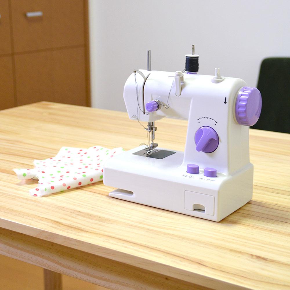 返し縫いできるコンパクトミシン